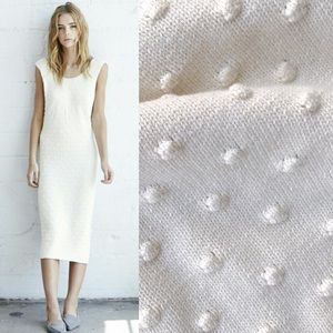 Anthropologie Popcorn knit midi dress